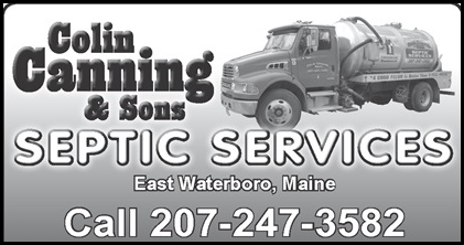 Colin Canning & Sons Septic Services of Waterboro, Maine.